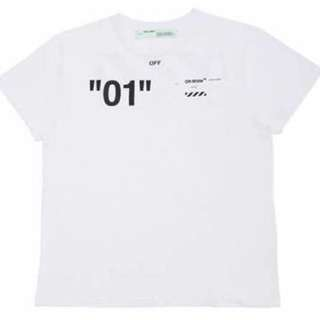 Off White  01 DIAGONAL TEE WHITE