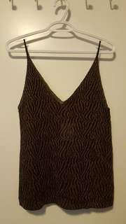 Zara knitted cheetah tank