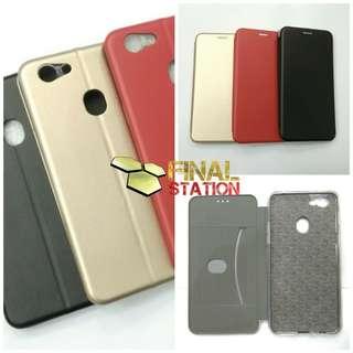 Oppo F5 Flip Case Leather
