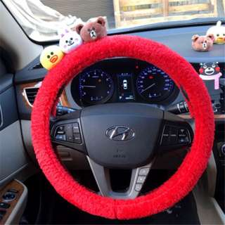 Cute cartoon Car steering wheel cover