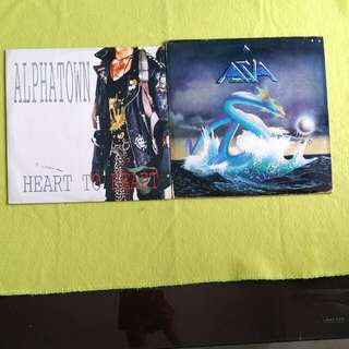 2LP. ASIA ● ALPHATOWN. heat of the moment/ heart to heart. (2 for the price of 1) Vinyl record