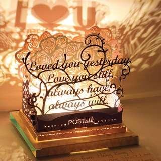 #情人節 #咭 #禮物 浪漫LED 燈  I ❤️U 立體紙卡