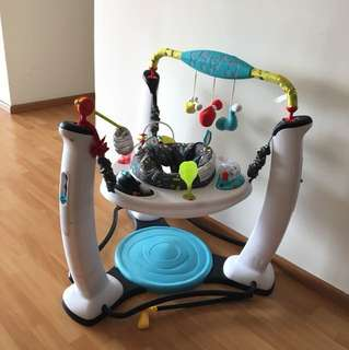 Exersaucer bouncer and free play gym