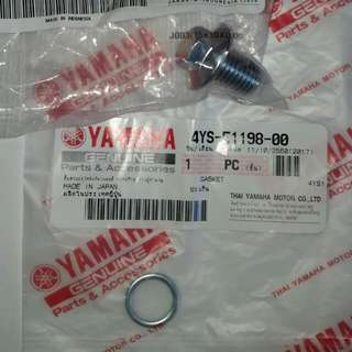 Mio i 125- Oil Drain Bolt A with Washer (wrench size=12) Genuine, message for possible offers,