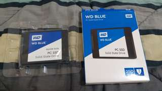 Wd blue hdd and sdd brand new