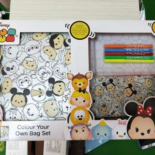 Tsum Tsum 2-in-1 colour your own bags.
