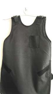 Lead gown with thyroid shield