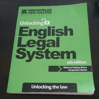 Original Unlocking English Legal System