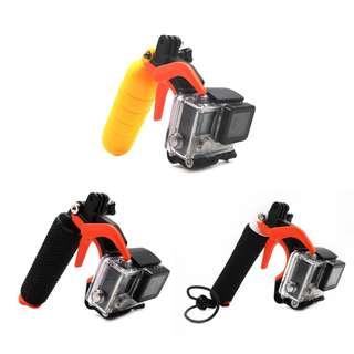 TELESIN Trigger Shutter Holder for GoPro Hero 6/5/4/3, Xiaomi Yi, XiaoYi 4K, 4K+ (Orange / Yellow)