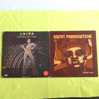 2LP. ANITA SARAWAK ●  AGENT PROVOCATEUR. sophisticated lady/ agent dan. ( 2 Lp for the price of 1 ) Vinyl record