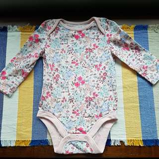 Baby Gap Long Sleeve Romper Bodysuit 6-12mths
