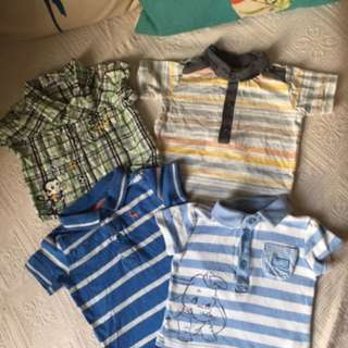 Bundle Of Baby Boys Baju Polo Shirts from UK NEXT etc 3-6m