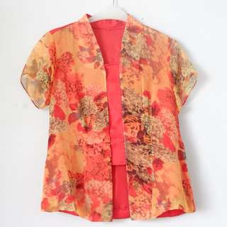 Flowery Red Top