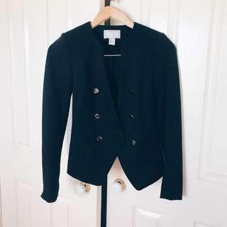 H&M Black Tuxedo Style Blazer