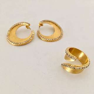 Stroili Oro earrings and ring