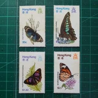 1979 香港蝴蝶 新票一套