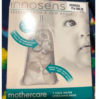 Innosense disposable sterilizing cold water sterilizing bag