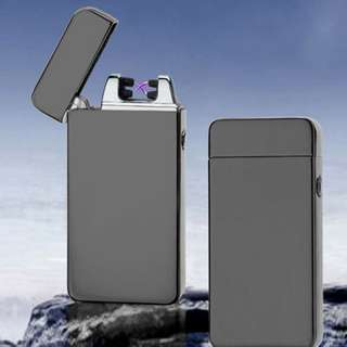 Dual Arc Metal Flameless Torch USB Rechargeable Windproof Cigarette Lighter INT