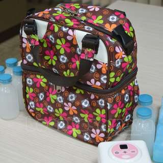 Cooler Bag Freezie Amerie - Floral Brown