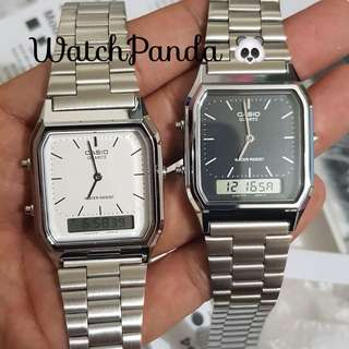 Casio Watch Aq230 Silver