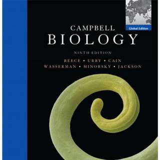 CAMPBELL BIOLOGY 9TH EDITION (USED)