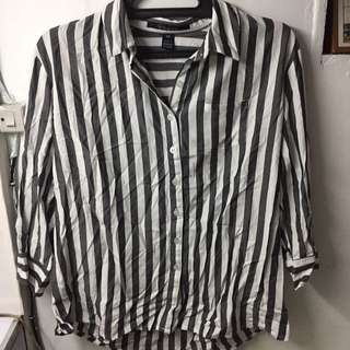 Black And White Stripes Polo