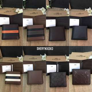 Coach Men's Wallet [Ready Stock]