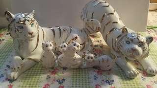 Amoy porcelain white tiger set淘瓷白老虎