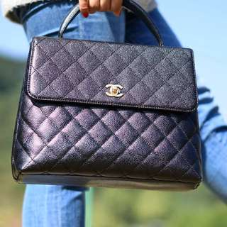 ✱ mintage.co ✱ vintage ✦ CHANEL ✦ caviar leather Kelly bag