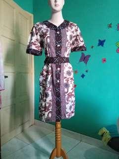 Dress batik brand matahari 2x pakai like new motif mega mendung harga beli 360