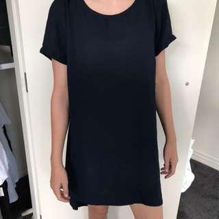 Dark navy blue t shirt dress