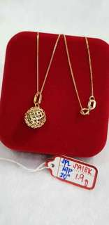 18k saudi gold necklace and pendants...