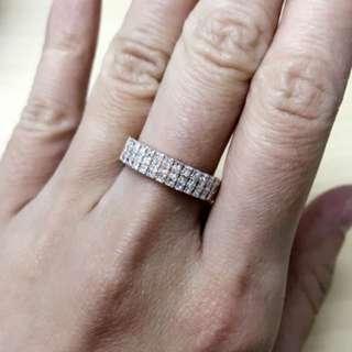 18K玫瑰金公主石戒指💍1ct