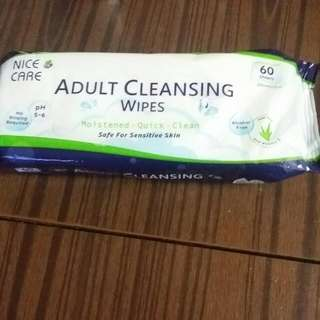 Adult Cleansing Wipes 60 sheets