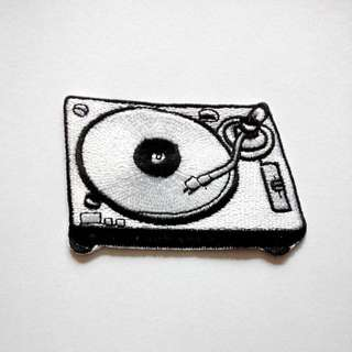 DJ Turntable Music Clubbing Iron On Patch