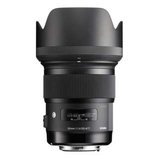 [BN] Sigma 50mm f/1.4 DG HSM Art Lens for Nikon F