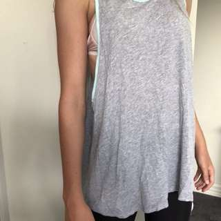Grey sports wear top