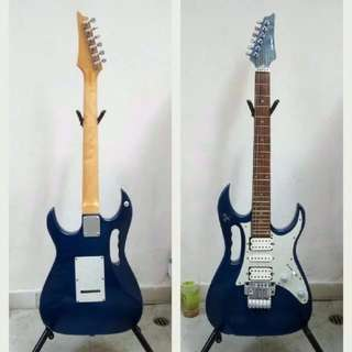 意大利guitar 40吋 Rolling's Chitarra Elettrica 電吉他 藍白色