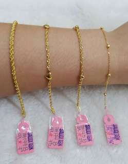 18k saudi gold bracelets....