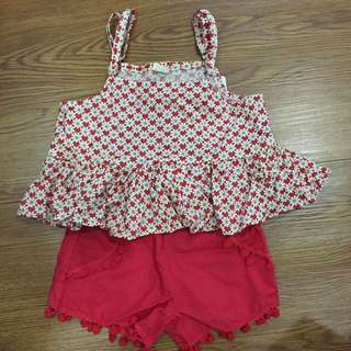 Girls Strap Shirt & Pants