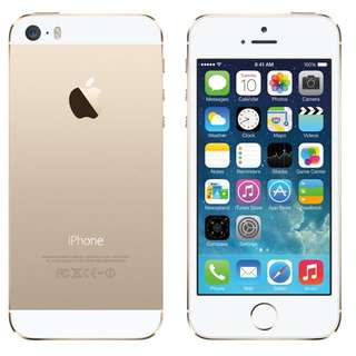 Brandnew Iphone 5s Gold 16gig Complete Set