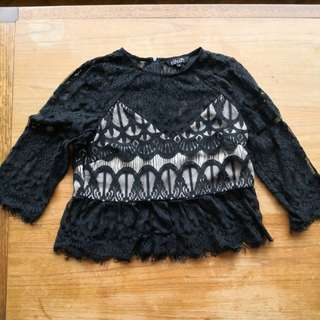 AS NEW Detailed Lace Top, Size 8