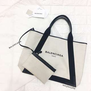 BRAND NEW Balenciaga Navy Cabas Medium Tote