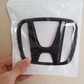 HONDA LOGO CARBON front and back