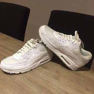 White-on-white Nike AirMax