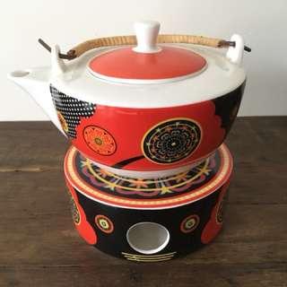 Ritzenhoff bone china teapot burner set 茶壺爐套裝 art deco