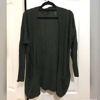 Olive green cardigan