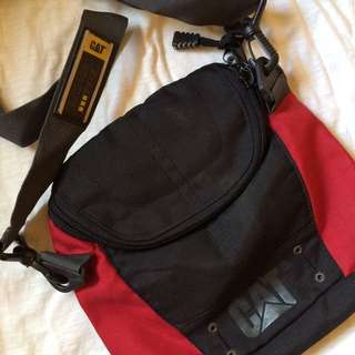CAT Black & Red Sling Bag