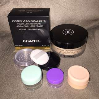 Chanel poudre universelle libre shade no 20 clair - translucent 1 loose powder bedak share jar