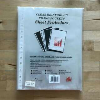 BN Clear Filling pockets/ Sheet Protectors